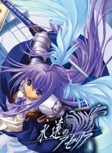 Rating: Safe Score: 15 Tags: armor aselia_bluespirit dress eien_no_aselia hitomaru sword wings xuse User: Radioactive