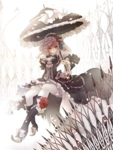 Rating: Safe Score: 38 Tags: cleavage heterochromia lolita_fashion thighhighs zerokichi User: Radioactive