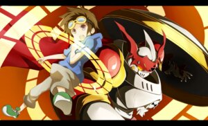 Rating: Safe Score: 13 Tags: digimon digimon_tamers dukemon lemon_(wzcrybmi) matsuda_takato monster User: charunetra