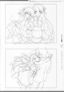 Rating: Safe Score: 6 Tags: 11eyes lass maid minase_yuka monochrome sketch tachibana_kukuri User: admin2