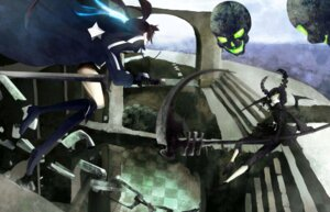 Rating: Safe Score: 20 Tags: black_rock_shooter black_rock_shooter_(character) dead_master dress horns kio_sayuki sword vocaloid wings User: charunetra