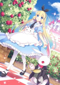 Rating: Safe Score: 46 Tags: alice alice_in_wonderland dress goma_(11zihisin) heels pantyhose User: saemonnokami