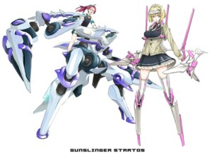 Rating: Safe Score: 11 Tags: gunslinger_stratos mecha_musume megane miwa_shirow thighhighs User: Radioactive