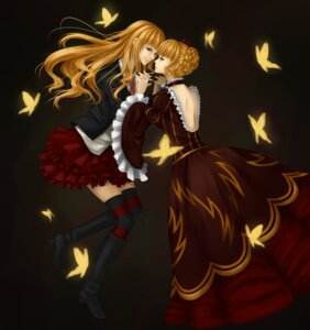 Rating: Safe Score: 5 Tags: au beatrice dress thighhighs umineko_no_naku_koro_ni User: charunetra