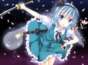 Rating: Safe Score: 19 Tags: ikeda_hazuki konpaku_youmu sword touhou User: SciFi