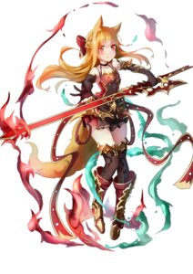 Rating: Safe Score: 45 Tags: animal_ears armor dress mozhi sword tail thighhighs User: KazukiNanako