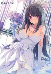Rating: Questionable Score: 79 Tags: ao_no_kanata_no_four_rhythm dress no_bra sprite suzumori thighhighs tobisawa_misaki wedding_dress User: DDD
