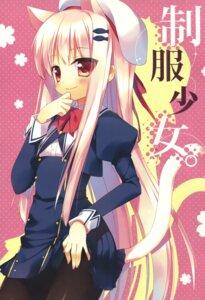 Rating: Safe Score: 45 Tags: 23.4° animal_ears ichiri nekomimi pantsu pantyhose seifuku tail User: dyj