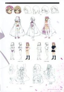 Rating: Safe Score: 9 Tags: bra character_design cleavage haruka_(senran_kagura) heels pantsu seifuku senran_kagura thighhighs weapon yaegashi_nan User: kiyoe