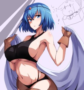 Rating: Questionable Score: 57 Tags: bra erect_nipples pantsu runaru sennen_sensou_aigis underboob User: mash