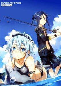 Rating: Safe Score: 71 Tags: abec bikini gun_gale_online kirito sinon swimsuits sword_art_online User: blooregardo