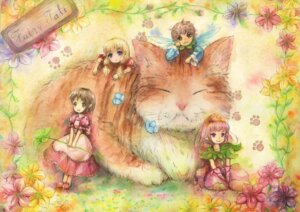 Rating: Safe Score: 10 Tags: fairy miyai_haruki neko User: blooregardo