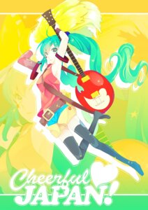 Rating: Safe Score: 9 Tags: guitar hatsune_miku kyama thighhighs vocaloid User: hobbito