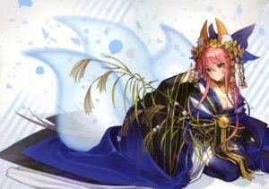 Rating: Safe Score: 49 Tags: animal_ears cleavage fate/grand_order kimono open_shirt tail tamamo_no_mae thighhighs wada_rco User: scathach