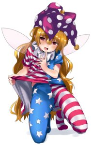 Rating: Safe Score: 22 Tags: clownpiece dress pantyhose skirt_lift touhou wings zuwatake User: nphuongsun93