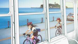 Rating: Safe Score: 8 Tags: akitsuki_tomoe endcard kusakabe_(kusakabeworks) maiharu_hiromi megane minami_kamakura_koukou_joshi_jitenshabu seifuku User: Iketani_RC