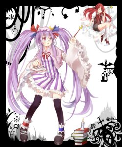 Rating: Safe Score: 21 Tags: efe koakuma megane patchouli_knowledge thighhighs touhou User: fairyren