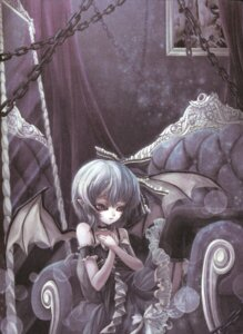 Rating: Safe Score: 9 Tags: gothic_lolita lolita_fashion remilia_scarlet stockings thighhighs touhou wings world_through_fantasy User: Radioactive