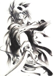 Rating: Safe Score: 3 Tags: blade_of_the_immortal male monochrome samura_hiroaki sword User: Radioactive