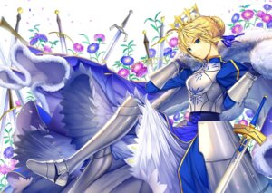 Rating: Safe Score: 12 Tags: armor dress ells fate/stay_night saber sword User: blooregardo