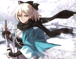 Rating: Safe Score: 36 Tags: fate/grand_order japanese_clothes sakura_saber shiguru sword User: Mr_GT