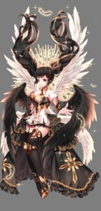 Rating: Safe Score: 35 Tags: armor black_joa dress heels stockings thighhighs transparent_png wings User: Mr_GT