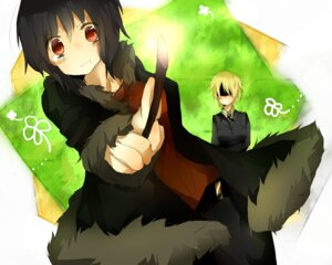 Rating: Safe Score: 2 Tags: durarara!! genderswap heiwajima_shizuo orihara_izaya sakusaku_(horosuke) wallpaper User: Radioactive