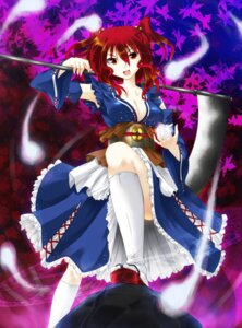 Rating: Safe Score: 12 Tags: cleavage fuyuno_taka onozuka_komachi touhou User: Mr_GT
