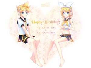 Rating: Safe Score: 22 Tags: kagamine_len kagamine_rin sayori vocaloid wallpaper User: fireattack