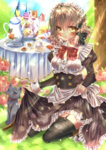 Rating: Safe Score: 21 Tags: cleavage maid neko skirt_lift stockings thighhighs touki_matsuri User: Mr_GT