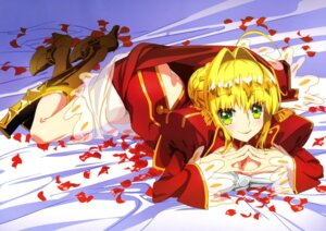 Rating: Questionable Score: 27 Tags: armor breast_hold cleavage dress fate/extra fate/extra_last_encore fate/stay_night heels pantsu saber_extra see_through takiyama_masaaki User: drop