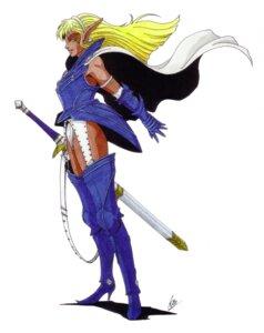 Rating: Safe Score: 3 Tags: armor elf kaneko_kazuma megaten pantsu pointy_ears shin_megami_tensei sword User: Radioactive