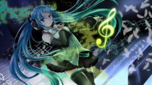 Rating: Safe Score: 18 Tags: hatsune_miku mariwai thighhighs vocaloid User: echidna_vita