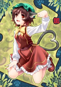 Rating: Safe Score: 14 Tags: animal_ears chen rakujin tail touhou User: Mr_GT