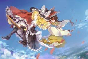 Rating: Safe Score: 14 Tags: hakurei_reimu juezi-jia kirisame_marisa miko touhou User: Mr_GT
