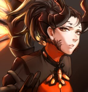 Rating: Safe Score: 25 Tags: horns mercy_(overwatch) overwatch yaya_(shizuku) User: charunetra