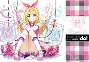 Rating: Safe Score: 90 Tags: 5_nenme_no_houkago aikatsu! dress hoshimiya_ichigo kantoku line_art wings User: Hatsukoi