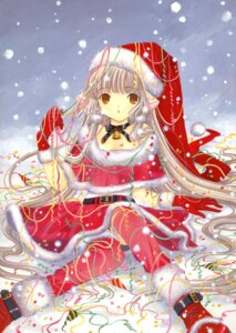 Rating: Safe Score: 22 Tags: chii chobits christmas clamp thighhighs User: fireattack