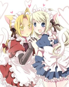 Rating: Safe Score: 19 Tags: animal_ears edward_elric fullmetal_alchemist maid naruchan nekomimi tail trap winry_rockbell User: Manabi