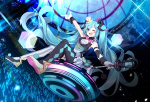 Rating: Safe Score: 17 Tags: hatsune_miku hazakura_chikori tattoo thighhighs vocaloid User: Mr_GT