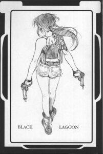 Rating: Safe Score: 5 Tags: black_lagoon gun hiroe_rei monochrome revy sketch User: Radioactive