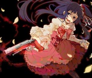 Rating: Questionable Score: 9 Tags: blood furudo_erika gun ica_ditte lolita_fashion umineko_no_naku_koro_ni User: 洛井夏石
