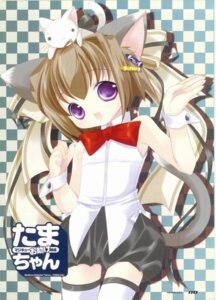 Rating: Safe Score: 5 Tags: animal_ears bottle_fairy neko nekomimi oboro_(bottle_fairy) tail tama-chan thighhighs tokumi_yuiko User: admin2