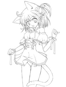 Rating: Questionable Score: 9 Tags: animal_ears minami_kawa monochrome nekomimi pantsu User: minakomel