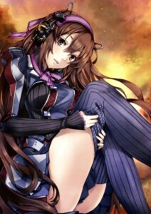 Rating: Safe Score: 80 Tags: headphones loretta_rembrandt pokimari thighhighs undressing valkyria_chronicles valkyria_chronicles_duel User: blooregardo
