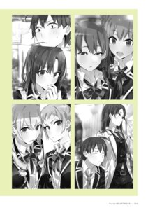 Rating: Safe Score: 4 Tags: monochrome ponkan_8 seifuku uniform yahari_ore_no_seishun_lovecome_wa_machigatteiru. User: fireattack