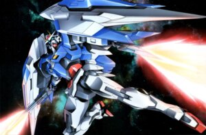 Rating: Safe Score: 9 Tags: 00_raiser gundam gundam_00 mecha sword User: harimahario