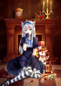 Rating: Safe Score: 86 Tags: animal_ears dress gyaza nekomimi thighhighs yugioh User: ddns001