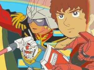 Rating: Safe Score: 3 Tags: amuro_ray char_aznable gundam male mecha wallpaper User: KnightOfZero