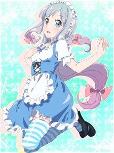 Rating: Safe Score: 34 Tags: breast_hold eromanga-sensei izumi_sagiri maid makicha thighhighs User: yanis